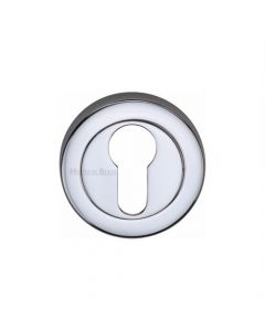 Euro Profile Round Escutcheon - Polished Chrome