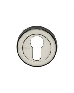Euro Profile Round Escutcheon - Polished Nickel