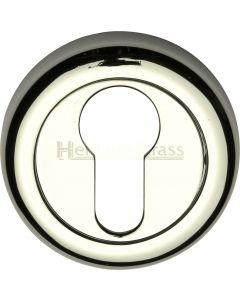 Euro Round Profile Escutcheon - Polished Nickel