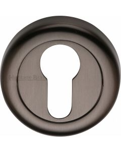 Euro Profile Round Escutcheon - Matt Bronze