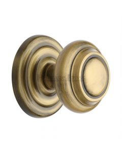Traditional Centre Door Knob- Antique Brass