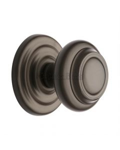 Traditional Centre Door Knob- Matte Bronze
