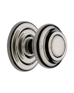 Traditional Centre Door Knob- Polished Nickel