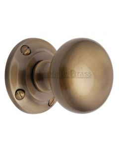 Victoria Mortice Knobs - Antique Brass