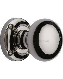 Victoria Design Round Mortice Knobs - Polished Nickel
