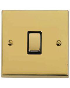 Victorian Elite Light Switch & Socket Range - Raised Plate R01 Design - Square Edges - Polished Brass