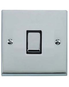 Victorian Elite Light Switch & Socket Range - Raised Plate R02 Design - Square Edges - Polished Chrome