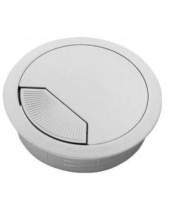 Cable Outlet Sleeve - 80mm Diameter Hole - White Plastic