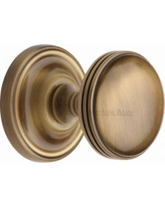 Whitehall Round Mortice Knobs - Antique Brass