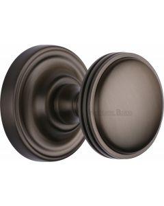 Whitehall Round Mortice Knobs - Matt Bronze