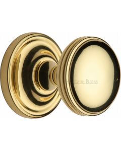 Whitehall Round Mortice Knobs - Polished Brass