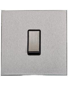 Winchester Concealed Fix Plate Light Switch & Socket Range - Flat Screwless Plate With Squared Edges - Satin Chrome