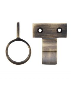 Window Sash Ring - Vertical Fix - 28mm Diameter - Florentine Bronze