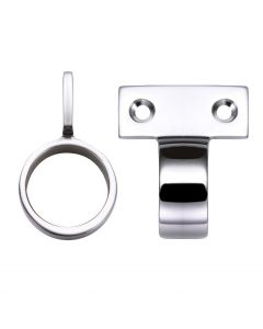 Window Sash Ring - Vertical Fix - 28mm Diameter - Polished Chrome