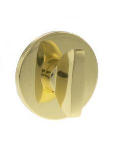 Slim Rose Bathroom Turn & Release Set - Polished Brass