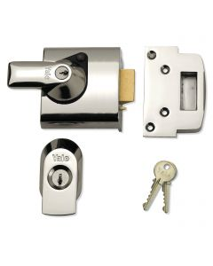 Yale Front Door Lock -  High Security Nightlatch - 60mm Backset - Polished Chrome