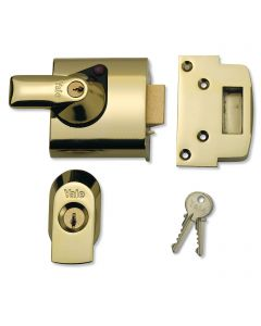 Yale Front Door Lock -  High Security Nightlatch - 60mm Backset - Polished Brass
