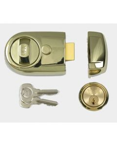 Yale Front Door Lock - Contemporary Style Nightlatch - Polished Brass