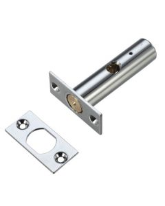 Security Rack Bolt For Wooden Doors - 60mm Long - Polished Chrome Finish