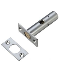 Security Rack Bolt For Wooden Doors - 60mm Long - Satin Chrome Finish