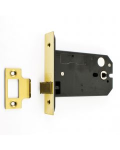 Horizontal Mortice Latch - Deep Case For Use With Door Knobs - PVD Brass