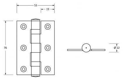 Ball-Bearing-Hinges-76mm-x-53mm-Diagram