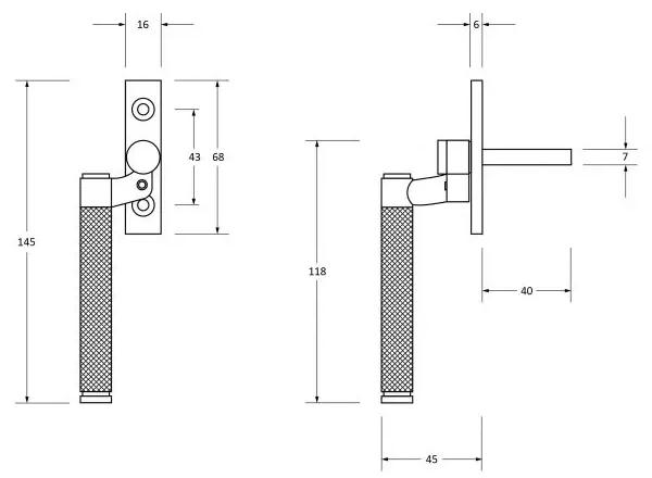 Brompton-Cranked-Knurled-Pattern-Locking-Espagnolette-Handle-Window-Fastener-Diagram