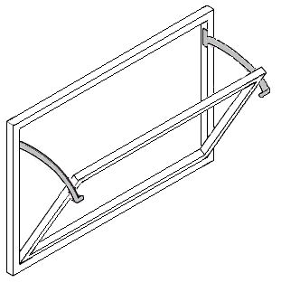 Fixed quadrant arm stays for fanlight windows polished brass for Window quadrant
