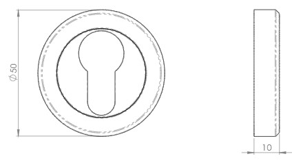 Euro-Profile-Escutcheon-On-Concealed-Fix-Round-Rose-Diagram
