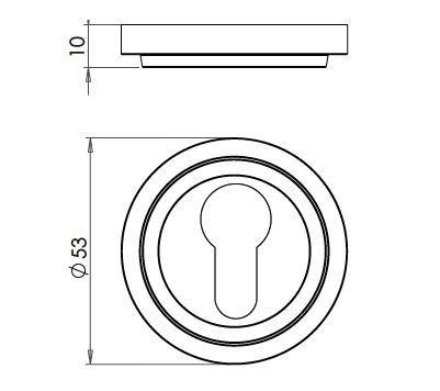 Euro-Profile-Escutcheon-With-Stepped-Pattern-Rose-Dimensions-Diagram