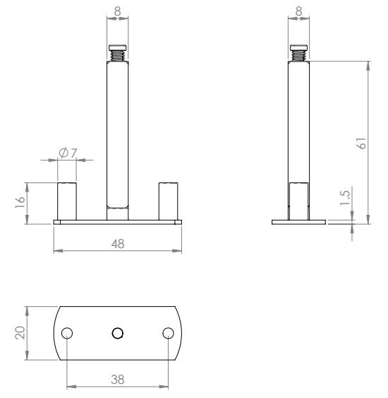 Half-Set-Fixing-Plate-For-Bolt-Through-Furniture-Diagram
