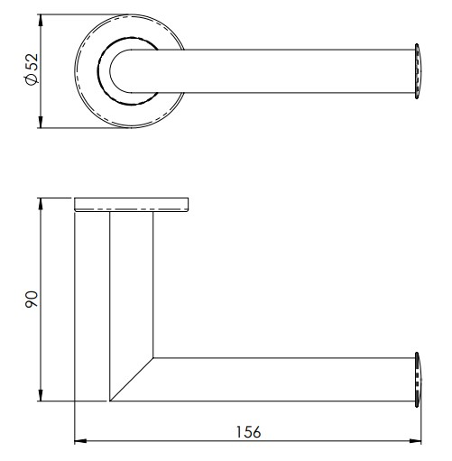 Mitred-Round-Bar-Toilet-Roll-Holder-Concealed-Fix-Roses-Diagram