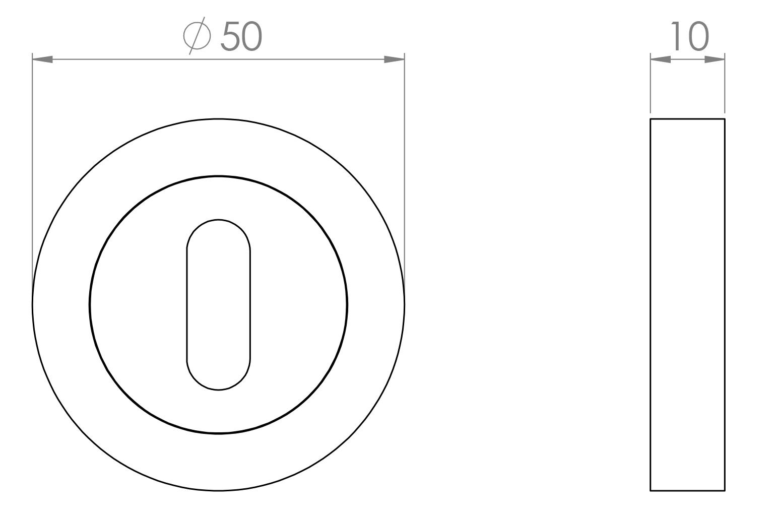 Standard profile escutcheon diagram
