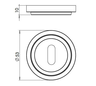Standard-Profile-Escutcheon-With-Stepped-Pattern-Rose-Dimensions-Diagram