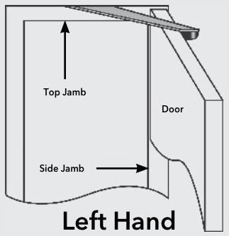 Newstar top jamb / frame mounted door stop and restrictor - left hand  sc 1 st  G Johns u0026 Sons & Top Jamb / Frame Mounted Door Stop u0026 Restrictor - Satin Stainless ... pezcame.com