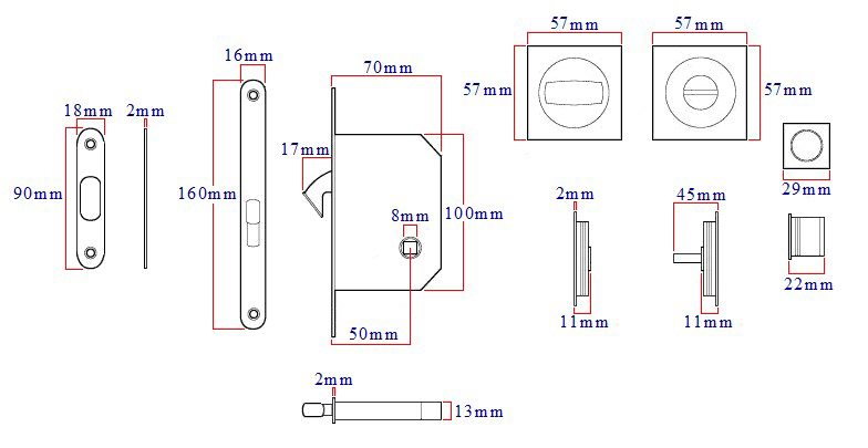 square-bathroom-hook-lock-for-sliding-pocket-doors-with-turn-and-release-diagram