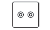 Twin Non Isolated TV Coaxial Socket Icon