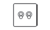 2 gang 2 way dolly toggle switch icon
