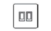 2 gang 2 way rocker switch icon