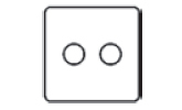 2 Gang Dimmer Switch Icon
