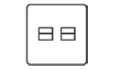 2 Gang Secondary Telephone Socket Icon