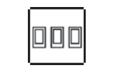 3 gang 2 way rocker switch icon