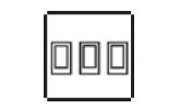 3 gang 2 way rocker switch icon