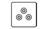 5amp Round 3 Pin Socket Icon