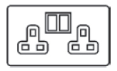 13 Amp Double Switched Socket Icon