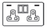 13 Amp Double Switched Socket With USB Chargers Icon