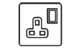 13 Amp Single Switched Socket Icon