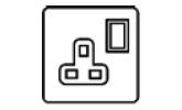 13 Amp Single Switched Socket Icon