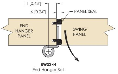 Brio 4s Meeting Panel Configuration - End Panel To Swing Panel