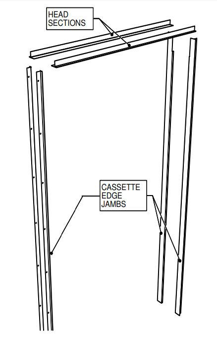Metal Jamb Kit To Suit The Portman Architrave Free Sliding Double Pocket Door Kit For Double Doors